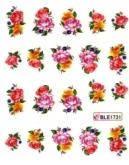 Отдельные цветы. Китайская роспись. Цветы и письма.