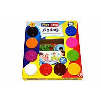 Масса для лепки 10 цветов PLAY-TOYS