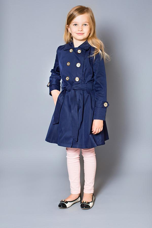 Плащ  темно-синий для девочек  6- 8 лет
