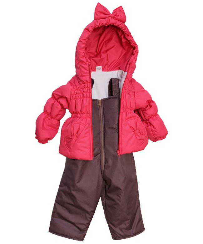 Демисезонный костюм (куртка и полукомбинезон) для девочек