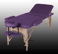 Складной массажный стол DEN деревянный трехсекционный, Стол массажный DEN