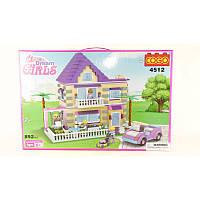 """Конструктор для девочек """"Dream girl""""  COGO 4512, 892 детали"""