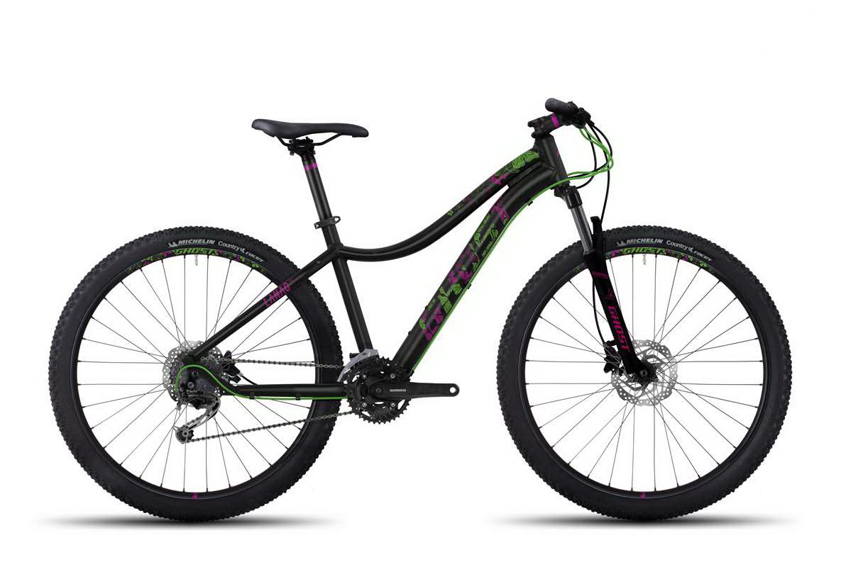 Велосипед Ghost 27.5 Lanao3 2017 рама XS черный / зеленый blk / grn 17MS4544