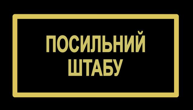 Бейдж поліції посильний штабу