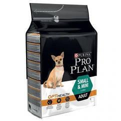 Pro Plan Small&Mini Adult  корм с курицей и рисом для взрослых собак мелких и карликовых пород 3 кг