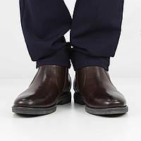 Кожаные коричневые полусапожки (зима), 39 размер, код UT80932