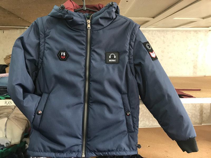 Весенняя куртка-жилетка  для  мальчиков 11-14 лет