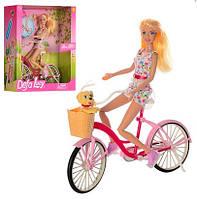 Кукла DEFA 8276 Барби 30см (шарнир, велосипед, собачка)