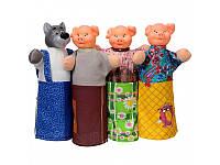 """Домашний кукольный театр """"Три поросёнка""""  4 персонажа"""