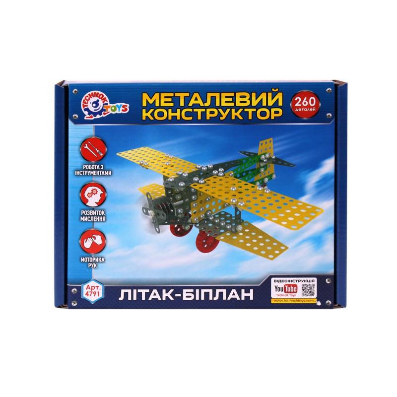Конструктор металлический Самолет   Технок
