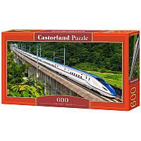 """Пазлы  600 """"Быстрый поезд""""   Castorland"""
