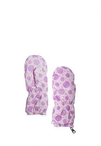 Теплые краги-рукавицы для девочки Bubble Pink