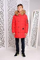 Зимняя  удлиненная куртка- пальто для мальчиков и подростков, фото 1