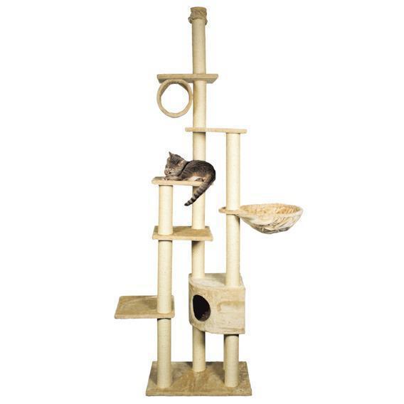 Когтеточка Trixie Madrid Scratching Post для кошек, высота регулируется, 68х44х270 см Серый