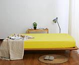 Комплект однотонного  постельного белья желтый, семейный, фото 3