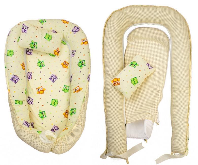 Позиционер - подушка с бортиками  для новорожденных