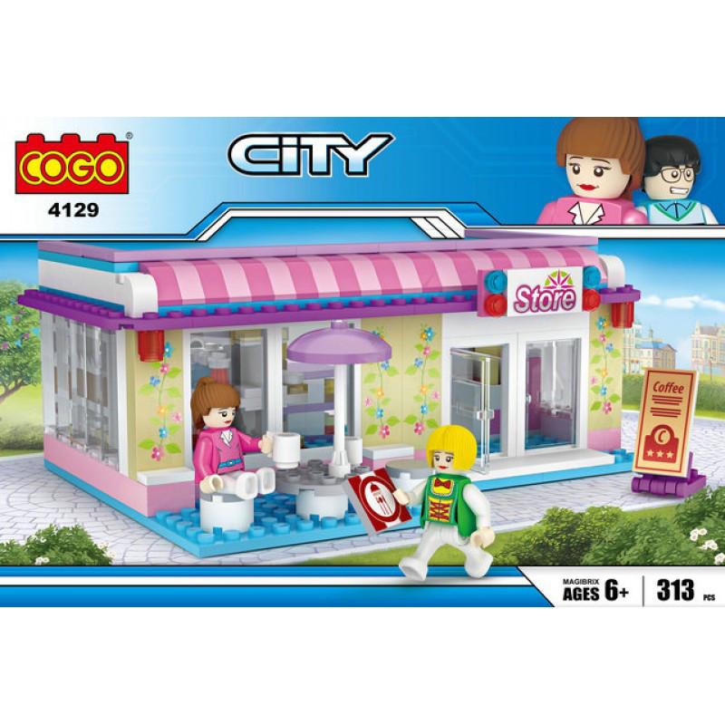 """Конструктор """"CITY"""" Кафе  COGO 4129, 313 дет"""