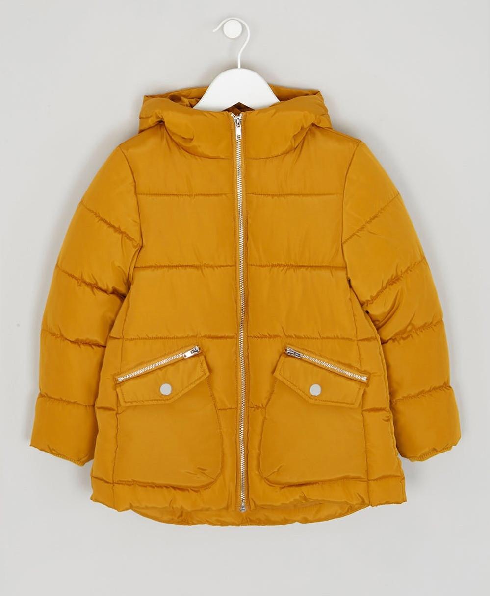 Демисезонная куртка для девочки охра Matalan Англия Размер 128, 134