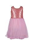 Нежно розовое  платье с пайетками  для девочек 2-7 лет, фото 7