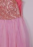 Нежно розовое  платье с пайетками  для девочек 2-7 лет, фото 8