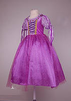 Велюровое платье Рапунцель для девочек 6-9 лет