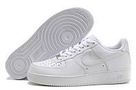 Женские кроссовки Nike Air Force белые низкие, фото 1