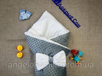 Конверт- плед  теплый   для новорожденных 100х80 см