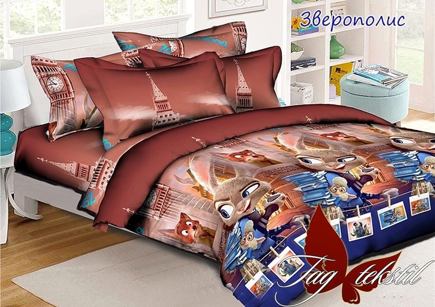 Детский комплект постельного белья Зверополис