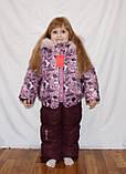Зимний костюм  куртка и штаны для девочек 2-5 лет, фото 2