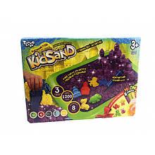 """Кинетический песок """"KidSand"""" 1200г + песочница, и формочки"""