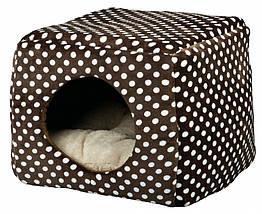 Домик-трансформер Trixie Mina Cuddly Cave плюшевый, коричневый, 40х32х40 см