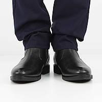 Кожаные черные полусапожки (зима), 40 размер, код UT80464