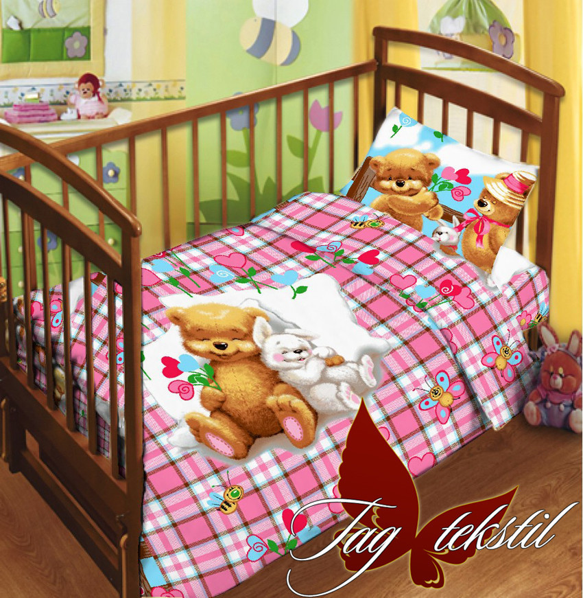 """Детский комплект постельного белья в кроватку  """"Детство"""""""