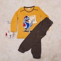 Пижама   для мальчиков  Динозавр, фото 1