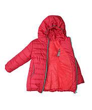 Коралловая демисезонная  курточка   для девочек от 1 до 3 лет