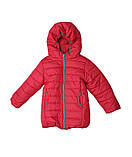 Коралловая демисезонная  курточка   для девочек от 1 до 4 лет, фото 2