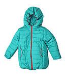 Коралловая демисезонная  курточка   для девочек от 1 до 4 лет, фото 4