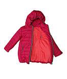 Коралловая демисезонная  курточка   для девочек от 1 до 4 лет, фото 7