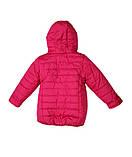 Коралловая демисезонная  курточка   для девочек от 1 до 4 лет, фото 9