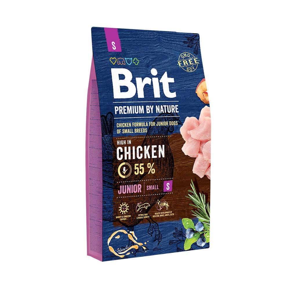 Сухой корм Brit Premium Junior S для щенков и молодых собак мелких пород со вкусом курицы 1 кг