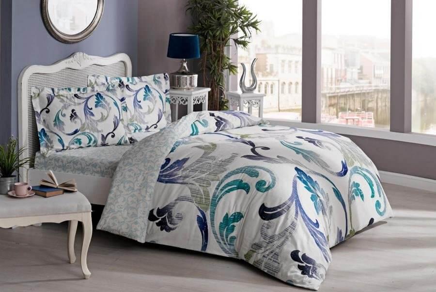 Комплект постельного белья из натурального сатина Марлена