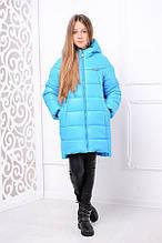 Куртка зимняя  бирюзовая для девочки Николь