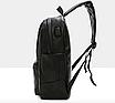 Рюкзак мужской кожзам городской Men's USB выход черный, фото 6