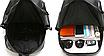 Рюкзак мужской кожзам городской Men's USB выход черный, фото 9