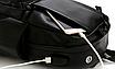 Рюкзак мужской кожзам городской Men's USB выход черный, фото 7