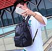 Рюкзак мужской кожзам городской Men's USB выход черный, фото 4