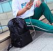 Рюкзак мужской кожзам городской Men's USB выход черный, фото 3