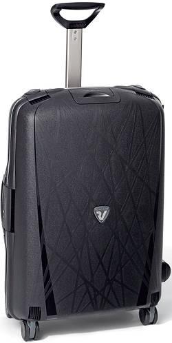 Пластиковый чемодан-тележка средний 70 л. 4-колесный Roncato Light 500712/01 черный