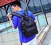 Рюкзак мужской кожзам городской Men's USB выход черный, фото 2