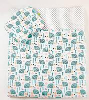 Одеяло тонкое для малыша  65 х 75 см  и подушка 22 х 26 см, фото 1